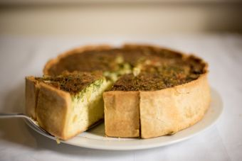 Kuchen de avena y manzana