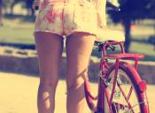 Arriba de la bicicleta, soy un pedazo de carne