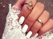 Tendencia: las uñas blancas (+ tutoriales)