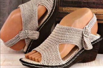 Tendencia: sandalias tejidas a crochet