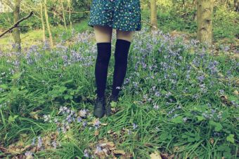 Tendencia: calcetines sobre la rodilla