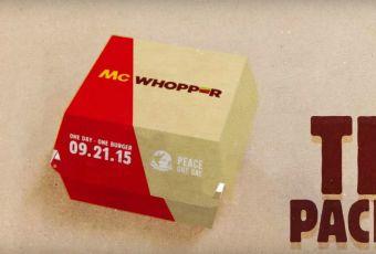 La nueva campaña por la paz que propone Burger King a McDonald's