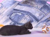 [Video] Perros y gatos disfrutaron el nuevo juguete de Star Wars