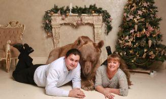 Conoce a Stepan, el osos pardo que vive con una familia rusa