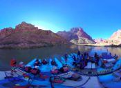 Primer video de bajada en rafting del Colorado en 360°