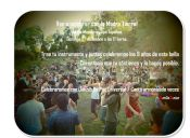 Ceremonia de Sonido por la Paz en Jardín Botánico Mapulemu del Cerro San Cristóbal