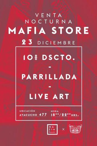 Parrillada y venta de Mafia Store