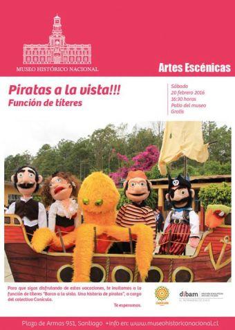Piratas a la Vista en Museo Histórico Nacional