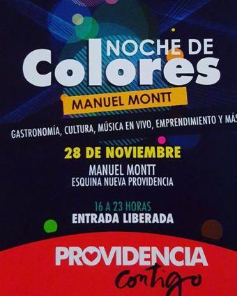 Noche de Colores en Manuel Montt