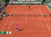 ¿Tenis o fútbol? el punto que sacó aplausos en Roland Garros