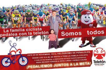 La familia del ciclismo con la Teleton - 29 de noviembre 2014