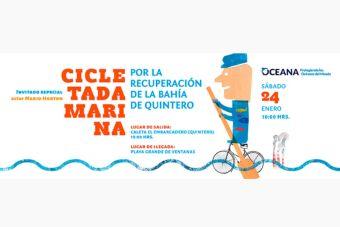 Cicletada marina por la recuperación de la Bahía de Quintero - 24 de enero 2015
