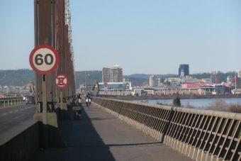 Ciclismo en Concepción: Puente Llacolén desde San Pedro de la Paz hacia la Costanera