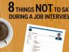 8 preguntas que no debes hacer en una entrevista de trabajo (VIDEO)