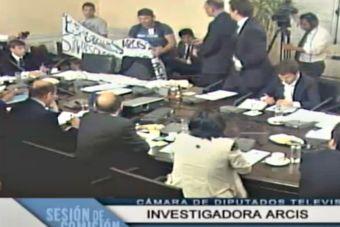 Estudiantes irrumpieron en sesión de la comisión que investiga a la U. Arcis