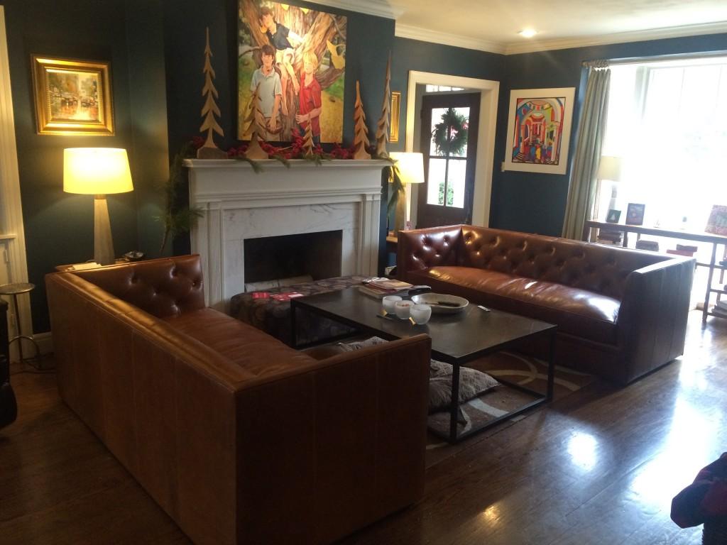 Macalester Leather Sofa Modern Sofas Modern Living Room