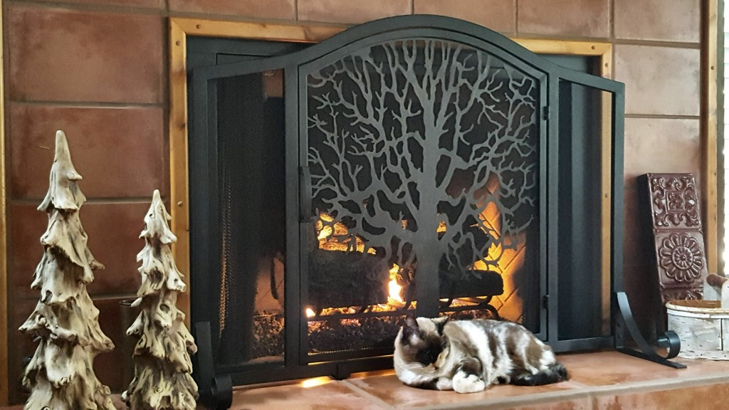 Large Tree of Life Fire Screen with Door | Collection Accessories