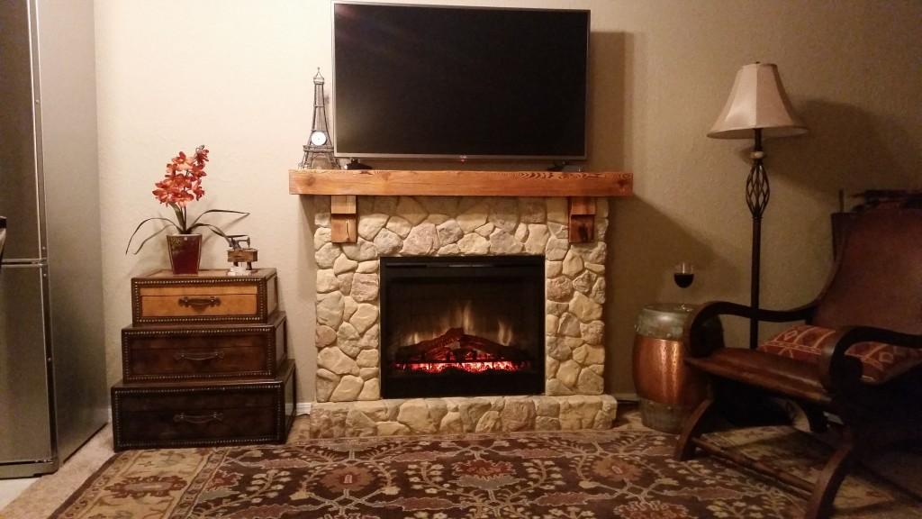 Dimplex Fieldstone Rustic Electric Fireplace Mantel Package - GDS26L5-904ST - Dimplex Fieldstone Rustic Electric Fireplace Mantel Package
