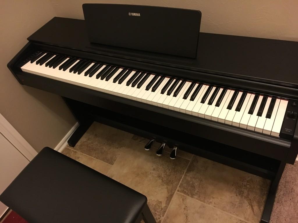 yamaha ydp 143. yamaha arius ydp-143 88-key digital console piano with bench | musician\u0027s friend ydp 143 3
