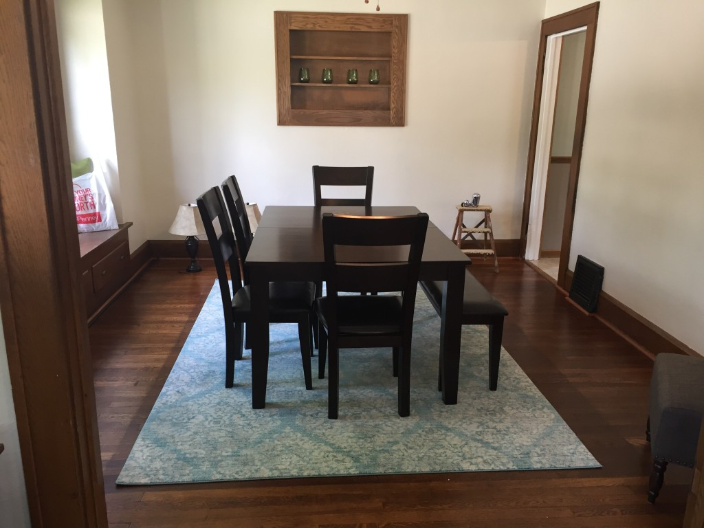 urban view table and 4 side chairs - dark cherry | levin furniture