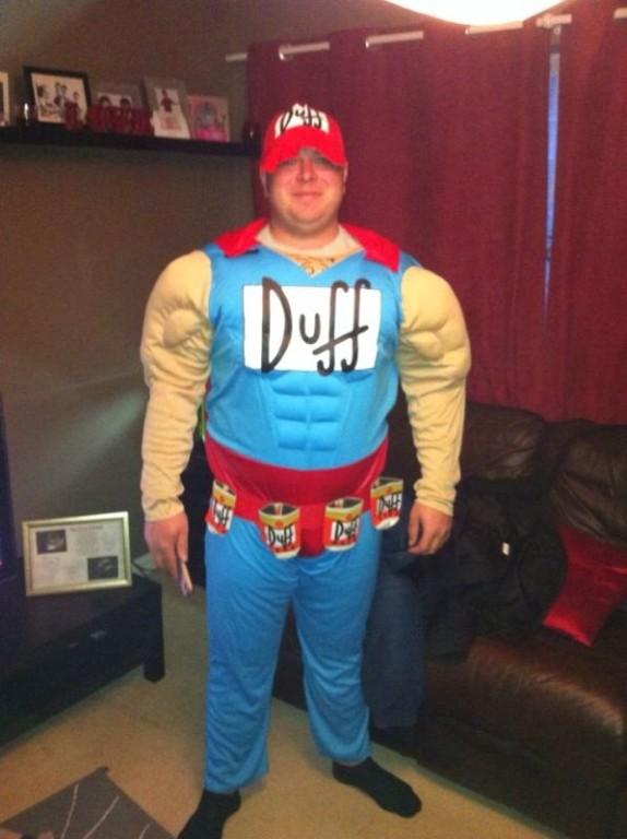 Duffman Muscle Costume The Simpsons Superhero Escapade 174 Uk