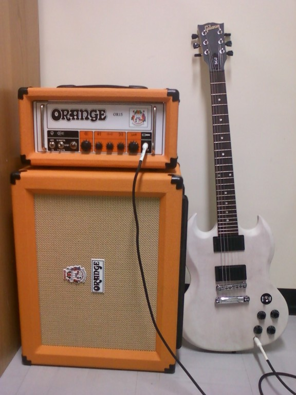 Orange Amplifiers OR Series OR15H 15W Compact Tube Guitar Amp Head ...