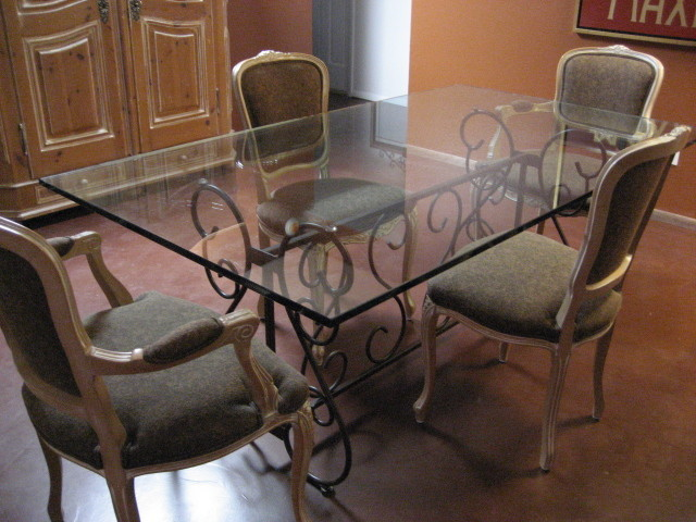 grace collection wrought iron table base for rectangle glass tops
