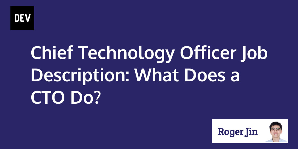 Chief Technology Officer Job Description: What Does A Cto Do?