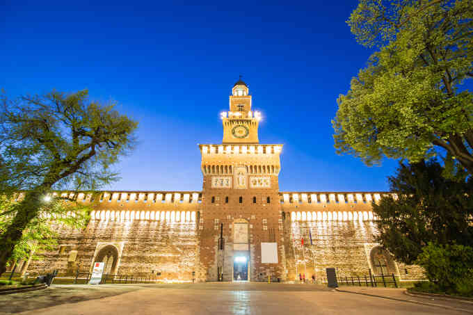 Impressive Sforza Castle In Milan, Italy