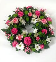 White & Pink Wreath