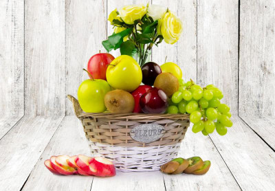 Delicious Fruit and Silk Flowers