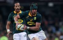 FILE: Warren Whiteley runs the ball during the international Test match between South Africa and France at the Kingspark rugby stadium on 17 June 2017 in Durban. Picture: AFP