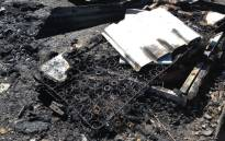 FILE: Remains of a mattress following a shack fire. Picture: EWN