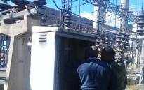 City Power technicians on site working on the full restoration of the Kelvin Power Station outage. Picture: @CityPowerJhb/Twitter.