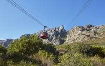 FILE: A general view of Table Mountain cable car going up the mountain. Picture: @TableMountainCa/Twitter.