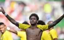 Brazil's forward Neymar celebrates during the international friendly football match Austria vs Brazil in Vienna, on 10 June 2018. Picture: AFP