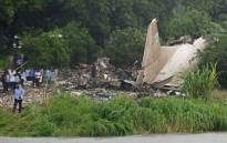FILE: The site where a cargo plane crashed into a small farming community on a small island in the White Nile River, close to Juba airport on 4 November 2015. Picture: AFP.