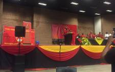 Cosatu President Sdumo Dlamini now addresses delegates at the Young Communist League's 3rd national council in Soweto. Picture: Clement Manyathela/EWN.
