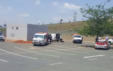 Two people have been injured in an explosion at Southgate Mall. Picture: @ER24EMS.