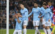 FILE: Manchester City players celebrate a goal. Picture: Facebook