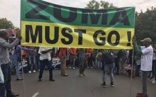 FILE: Anti-President Jacob Zuma marchers arriving at the Union Buildings. Picture: Kgothatso Mogale/EWN.