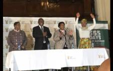 Minister of Women in the Presidency Bathabile Dlamini (L) with