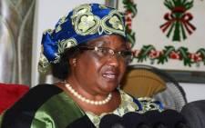 FILE: Former Malawi's President Joyce Banda. Picture: AFP.