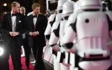 """Prince William and Prince Harry walked the red carpet at the European premiere of """"Star Wars: The Last Jedi."""""""