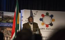 Kgalema Motlanthe speaking at the inaugural Inclusive Growth Conference in the Drakensberg organised by his foundation. Picture: Kayleen Morgan/EWN