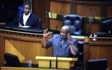 UDM leader Bantu Holomisa Parliament during the State of the Nation Debate on 17 February 2015. Picture: Thomas Holder/EWN.