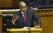 FILE: President Jacob Zuma responds to a debate in Parliament. Picture: GCIS