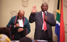 FILE: Cyril Ramaphosa was sworn in as president of the Republic of South Africa on Thursday afternoon, 15 February 2018. Picture: Bertram Malgas/EWN
