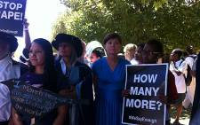 FILE: UCT staff and students protest against rape on 20 February 2013. Picture: Shamiela Fisher/EWN.