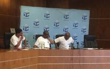 The Independent Electoral Commission (IEC) briefed the media about registration activity on day one. Picture: Masa Kekana/EWN